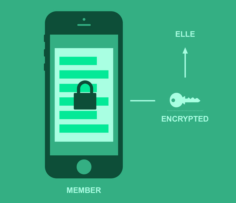 How does Elle secure documents collected via SMS? – Shastic